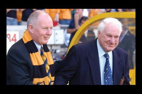 Morgan with Sir Jack Hayward, former owner of Wolverhampton